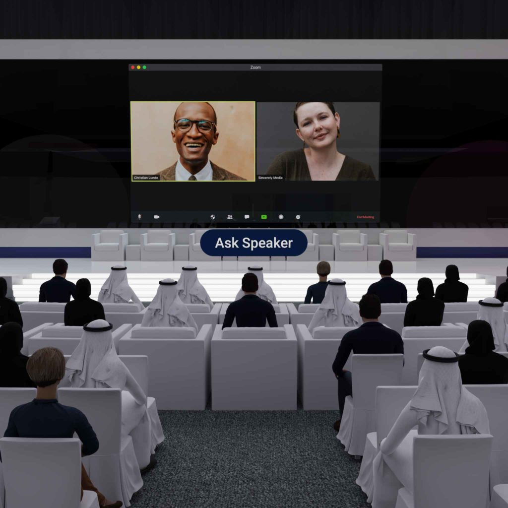 Watch live streamed webinars in our virtual auditorium