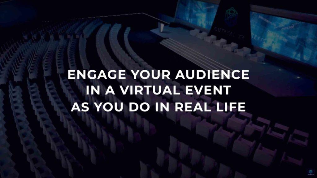Virtual events platform for hybrid events