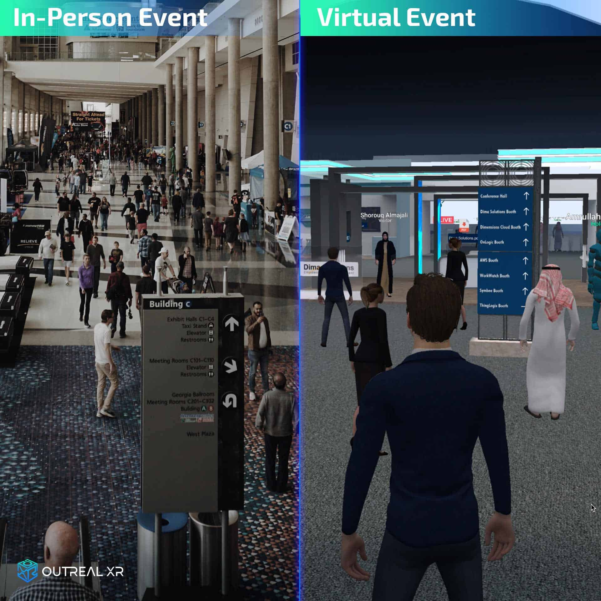 Hybrid exhibition event