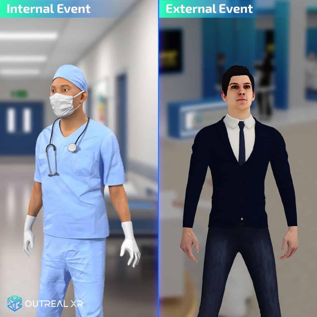 Internal and external events