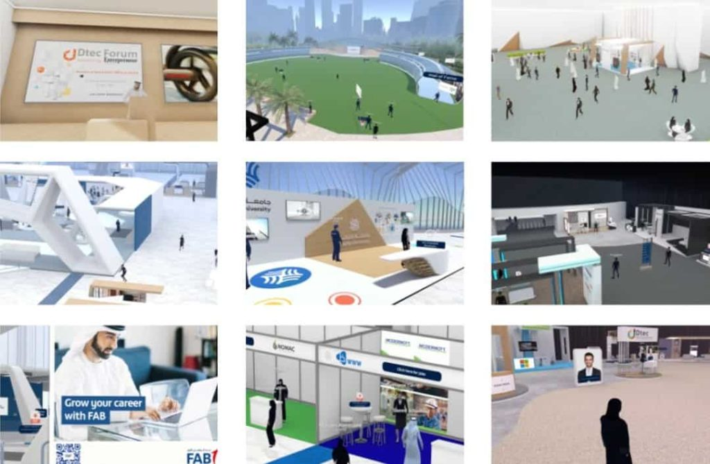 Custom virtual events and exhibitions
